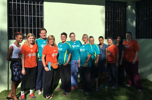 Dr. Scholes and team in Bayaguana, Dominican Republic for dental care volunteer service