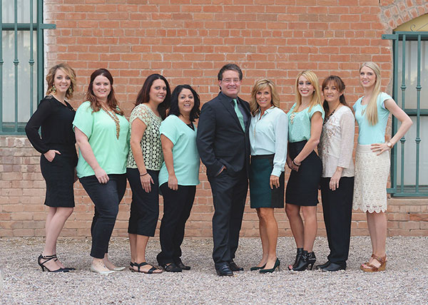 Periodontist with staff in Chandler, AZ.