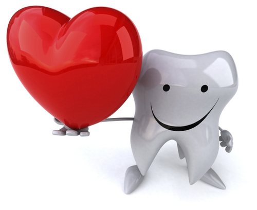 Tooth holding a heart Scholes Perio